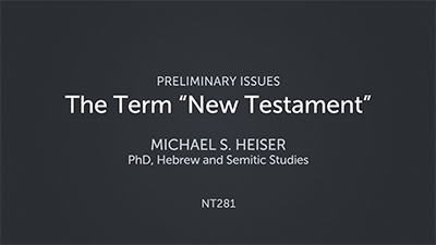 "The Term ""New Testament"""