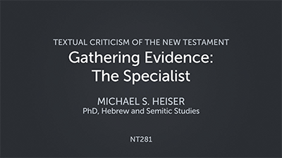 Gathering Evidence: The Specialist
