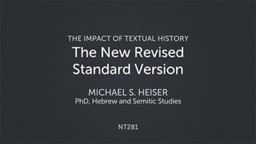 The New Revised Standard Version