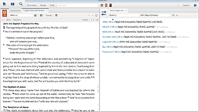 Comparing Major Editions of the Greek New Testament