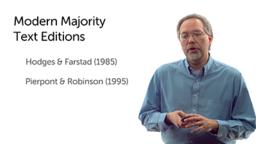 Modern Majority Text Editions