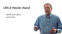 UBS Third Edition and Nestle-Aland Edition