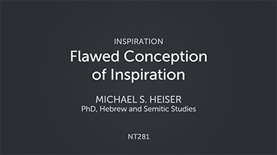 Flawed Conception of Inspiration