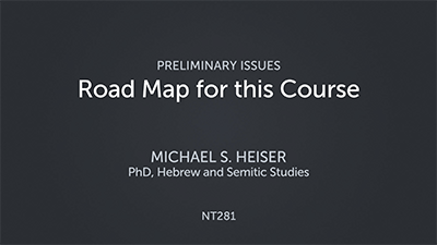 Road Map for this Course
