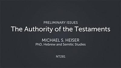 The Authority of the Testaments