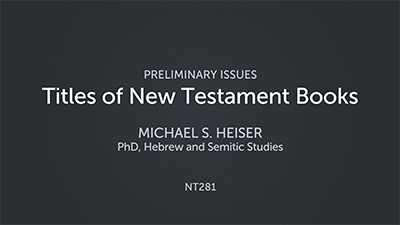 Titles of New Testament Books