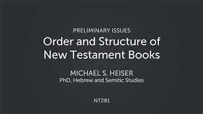 Order and Structure of New Testament Books