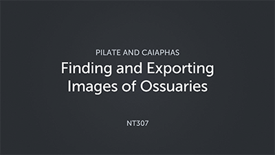 Finding and Exporting Images of Ossuaries