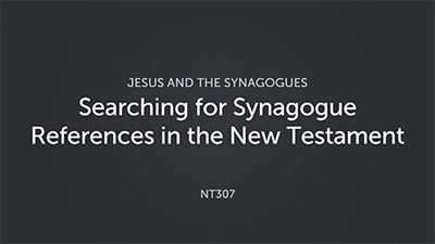 Searching for Synagogue References in the New Testament