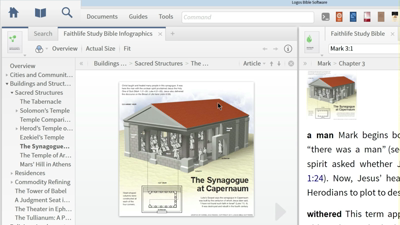 Using a Proximity Search to Find Images of the Synagogue at Capernaum