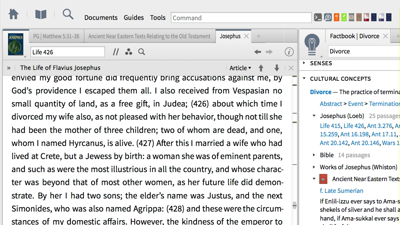 Researching Divorce in Ancient Literature with Cultural Concepts