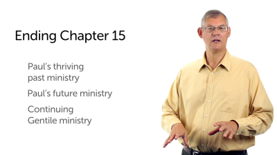 Paul's Plans for Ministry