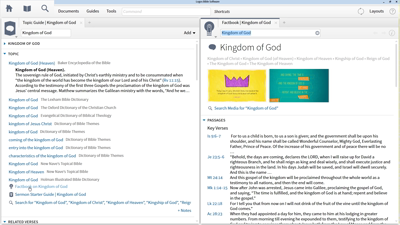 Researching the Kingdom of God with the Topic Guide