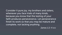 Trials and Maturity (Jas 1:1–4)