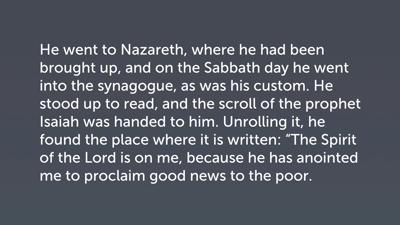 Jesus' Sermon at Nazareth