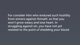 Legitimized through Discipline (Heb 12:3–11)