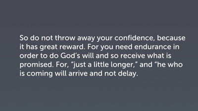 The Need for Patient Endurance (Heb 10:35–39)