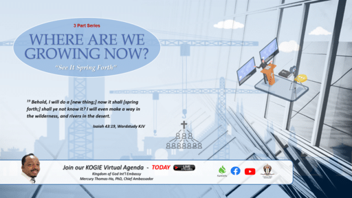 "WHERE R WE GROWING NOW (Series) ""Growth Dilemma"" (P1) by Mercury Thomas-Ha, PhD 