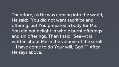 A Posture of Obedience (Heb 10:5–10)