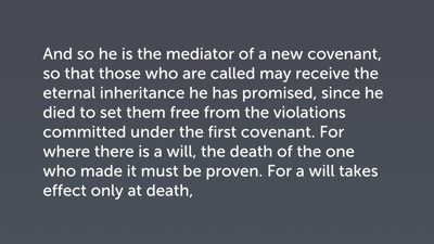 Mediation through Sacrificial Death (Heb 9:15–24)