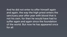 An Eternally Effective Sacrifice (Heb 9:25–28)