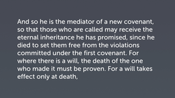 Mediation through Sacrificial Death (Heb 9:15–24)