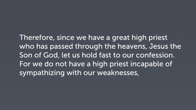A Crossroads (Heb 4:14–16)