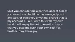 Paul's Request (Philemon 17–22)