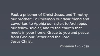 Opening Greeting (Philemon 1–3)