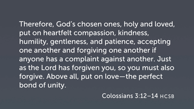 Putting on the New (Col 3:12–14)