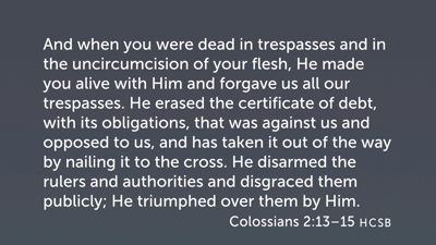 Results of Participation in Christ (Col 2:13–15)