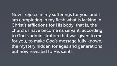Revelation of Christ (Col 1:24–27)