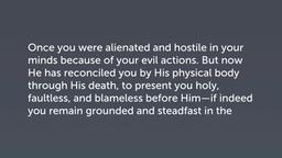 Impact of the Gospel (Col 1:21–23)