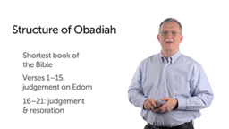 Obadiah: The Structure of the Book