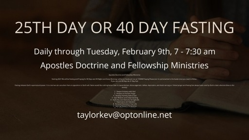 Day 25 of 40 Day Fasting