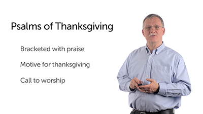 Thanksgiving in the Psalms