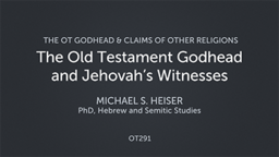 The Old Testament Godhead and Jehovah's Witnesses
