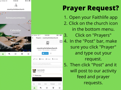 How To Post Prayer Requests