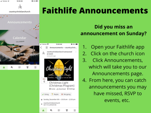Faithlife Announcments