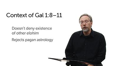 """Elemental Spirits"" in Galatians 4"