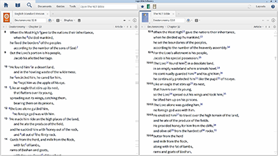 Using the NET Bible Notes to Find Manuscript Differences