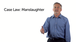 Case Law: Manslaughter