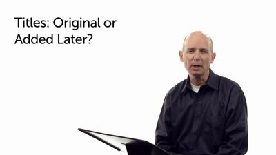 Are Superscriptions Original?