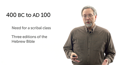 The Old Testament from 400 BC to AD 100