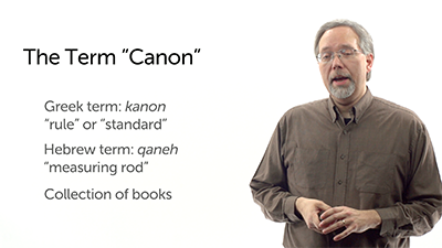 The Concept of Canon