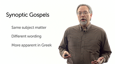 Inspiration Is Not Dictation: The Synoptic Gospels