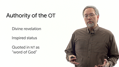 The Authority of the Old Testament