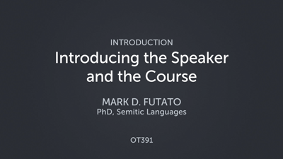 Introducing the Speaker and the Course