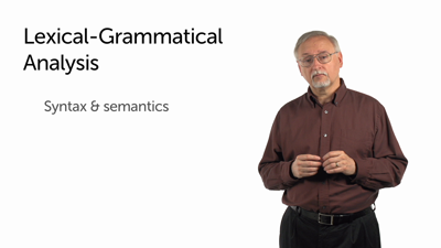 Lexical-Grammatical Analysis