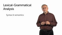 Lexical-Grammatical Analysis